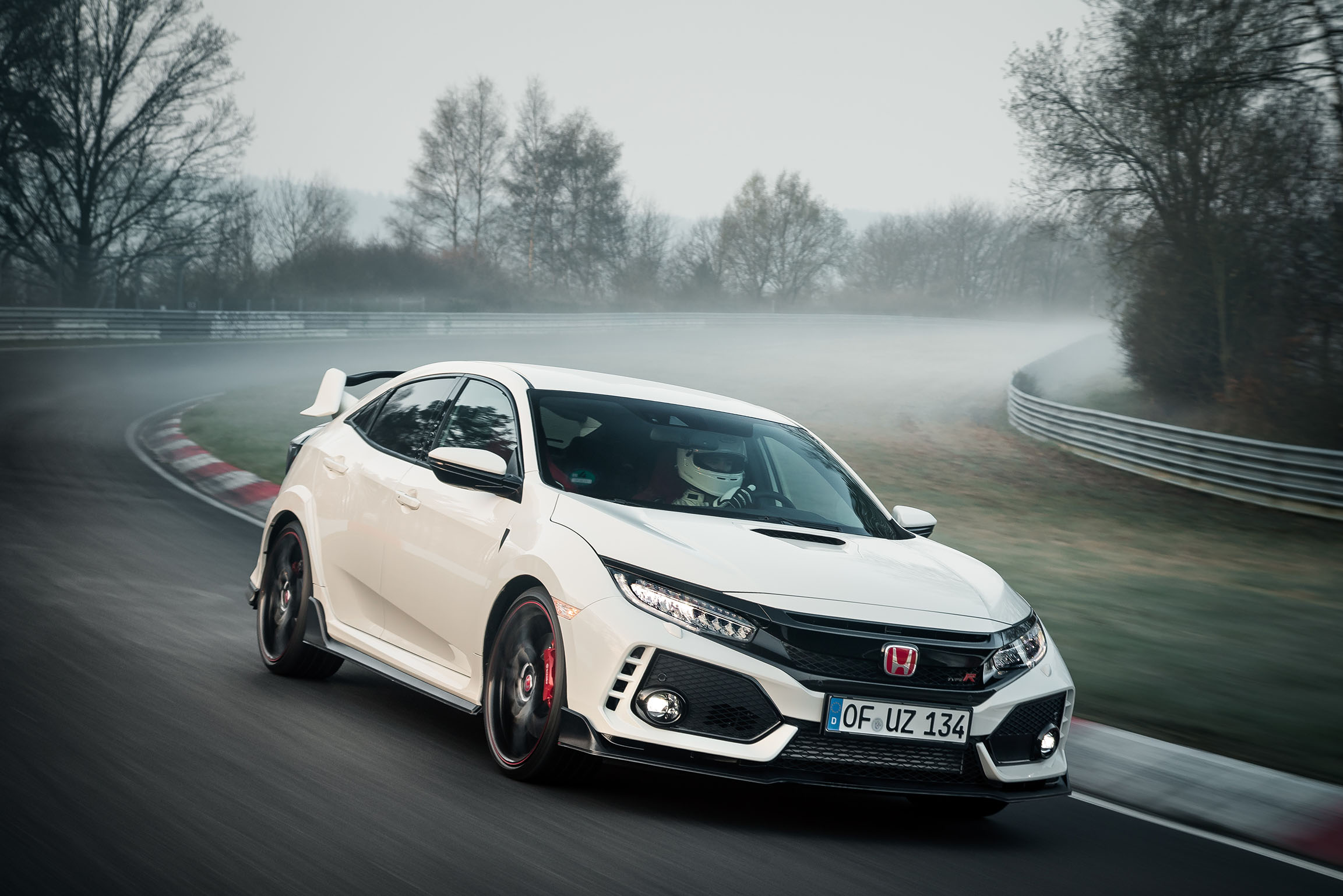 The All New 2017 Honda Civic Type R Has Set A New Lap Record For Front Wheel  Drive Cars At The Nurburgring Nordschleife. On April 3rd, 2017, A  Development ...