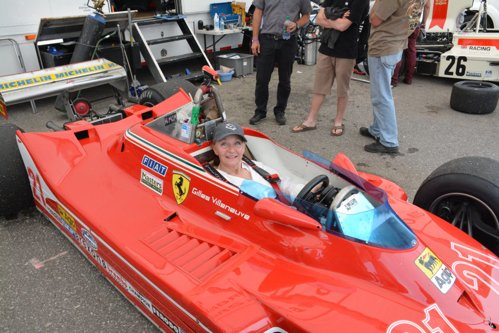 TrackWorthy – Joann Villeneuve sitting in her husband's F1 car for the first time (6)