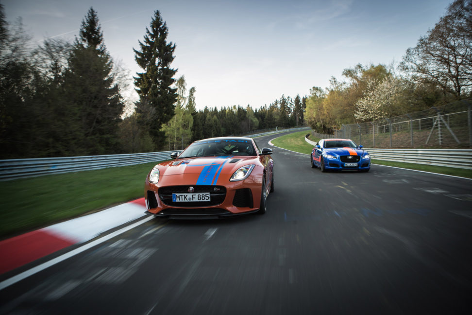 TrackWorthy - Jaguar F-TYPE SVR and XJR575 Nurburgring Race Taxis (8)